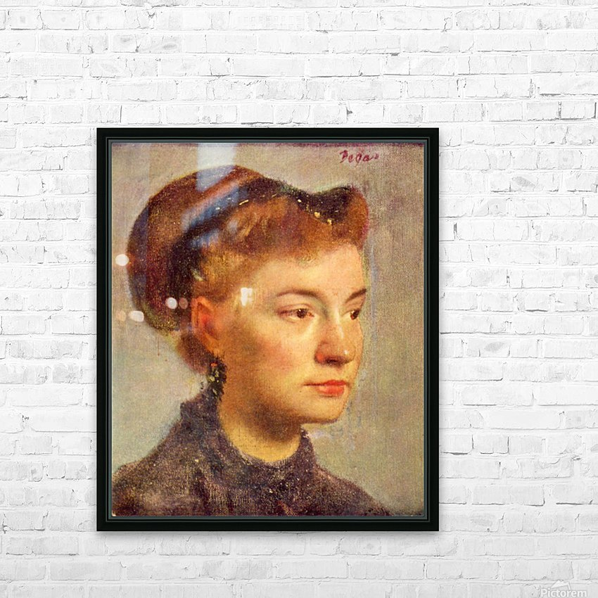 Portrait of a young Lady by Degas HD Sublimation Metal print with Decorating Float Frame (BOX)