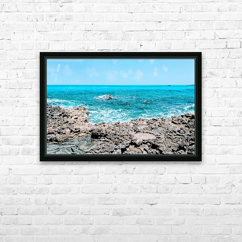 Smooth Waters Ahead HD Sublimation Metal print with Decorating Float Frame (BOX)