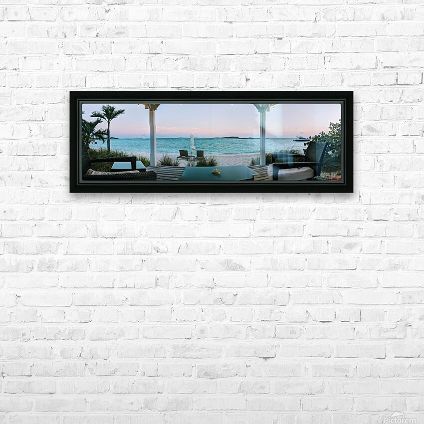 Sunset in Highbourne Cay HD Sublimation Metal print with Decorating Float Frame (BOX)