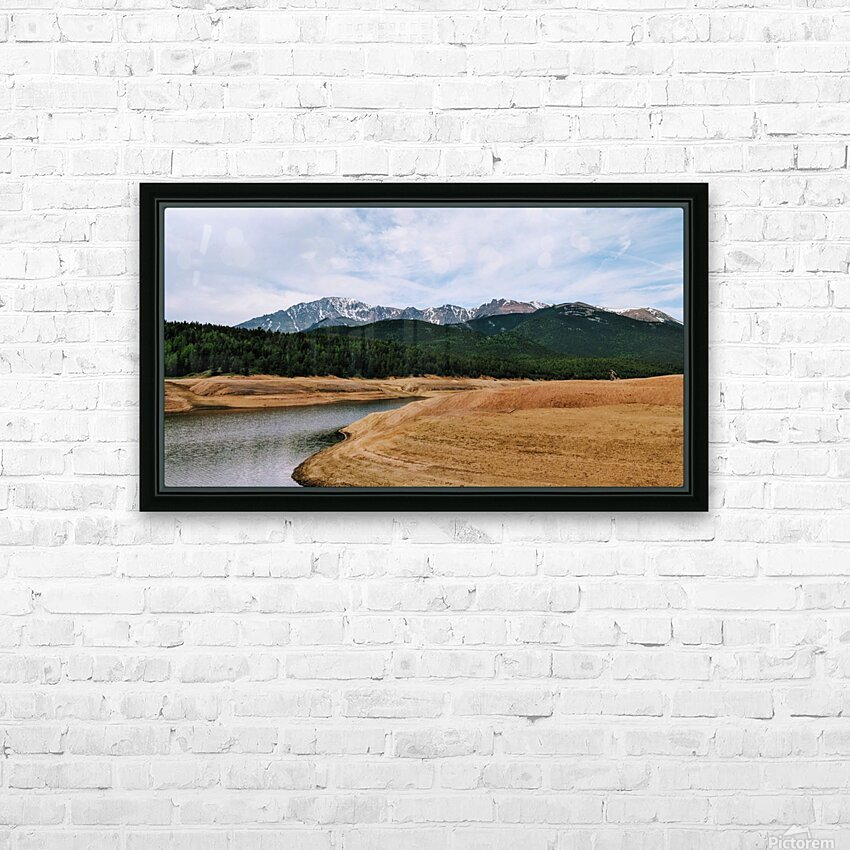 Golden Morning HD Sublimation Metal print with Decorating Float Frame (BOX)