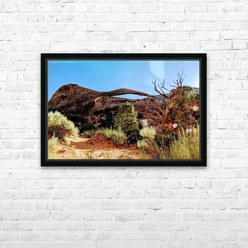 Landscape Arch I HD Sublimation Metal print with Decorating Float Frame (BOX)
