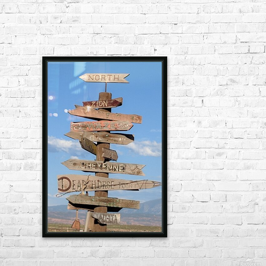 Crossroads at Moab HD Sublimation Metal print with Decorating Float Frame (BOX)