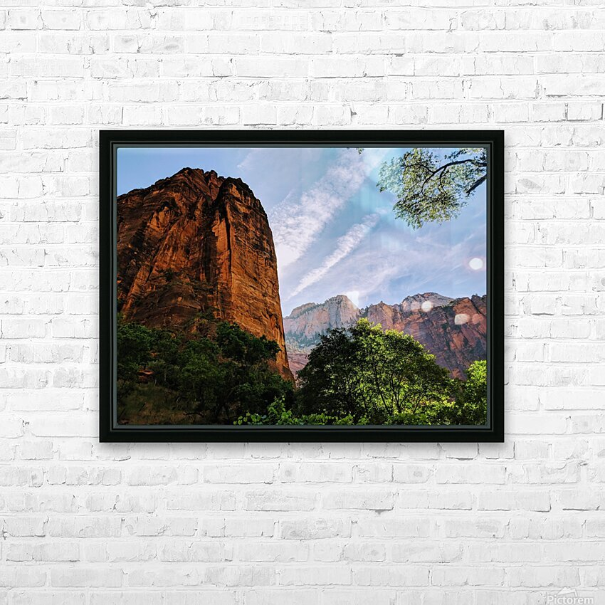 Zion Catching Rays HD Sublimation Metal print with Decorating Float Frame (BOX)