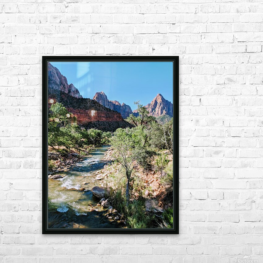 Zion in Morning Light HD Sublimation Metal print with Decorating Float Frame (BOX)