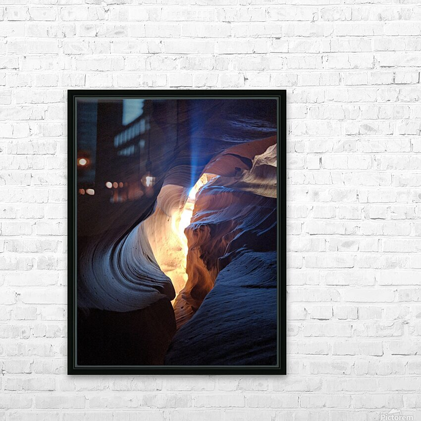 A Light in the Dark HD Sublimation Metal print with Decorating Float Frame (BOX)