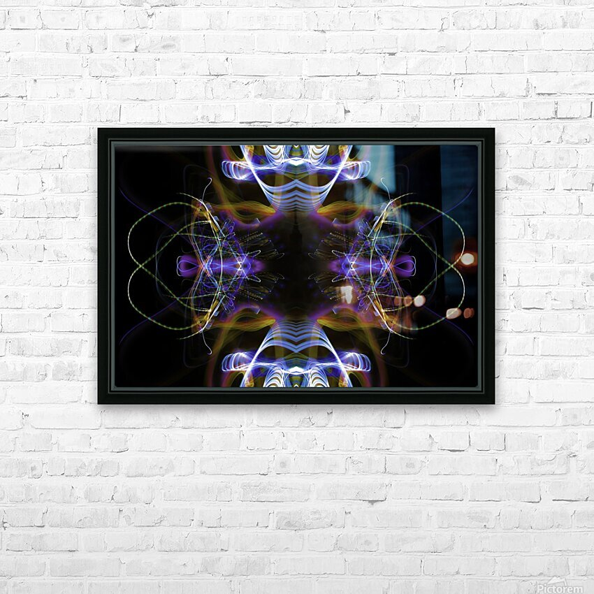 MOVING WINDOW HD Sublimation Metal print with Decorating Float Frame (BOX)