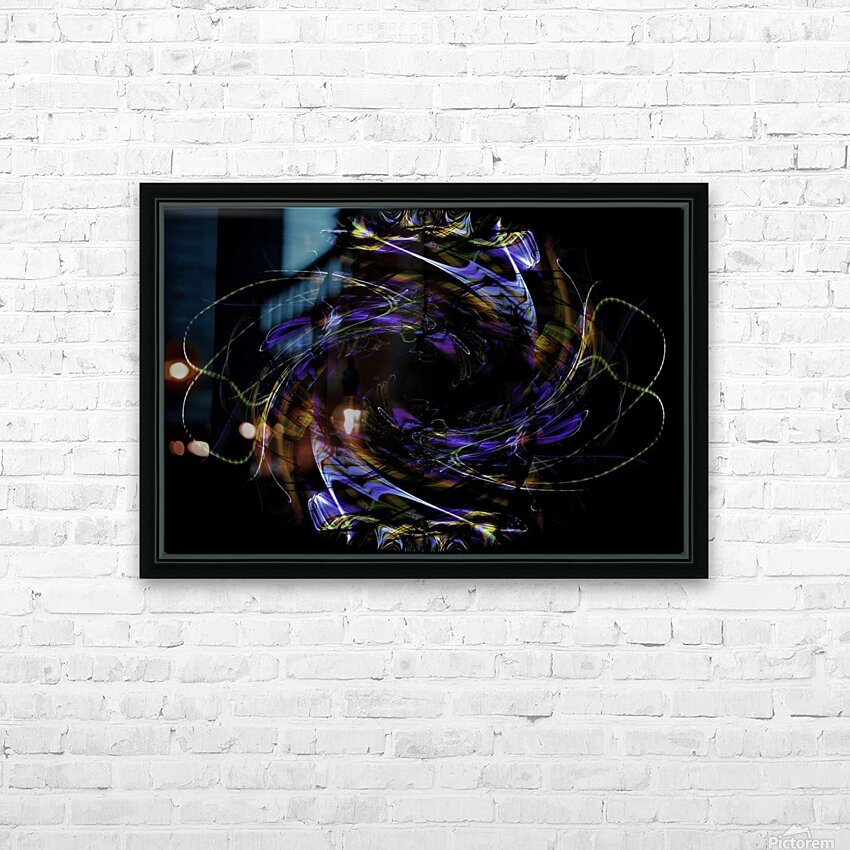 FLOWER OF FLUX HD Sublimation Metal print with Decorating Float Frame (BOX)