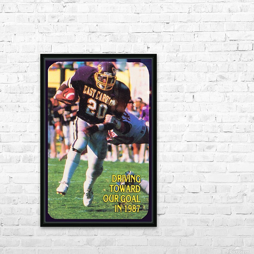 1987 East Carolina Football HD Sublimation Metal print with Decorating Float Frame (BOX)