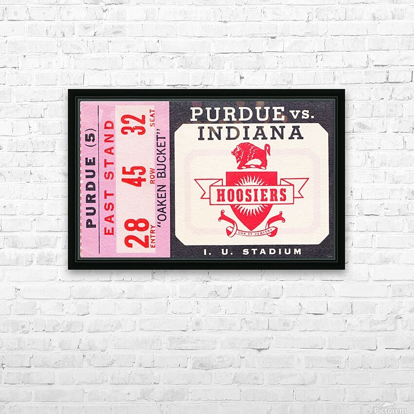 Vintage Indiana Hoosiers Football Ticket Stub HD Sublimation Metal print with Decorating Float Frame (BOX)
