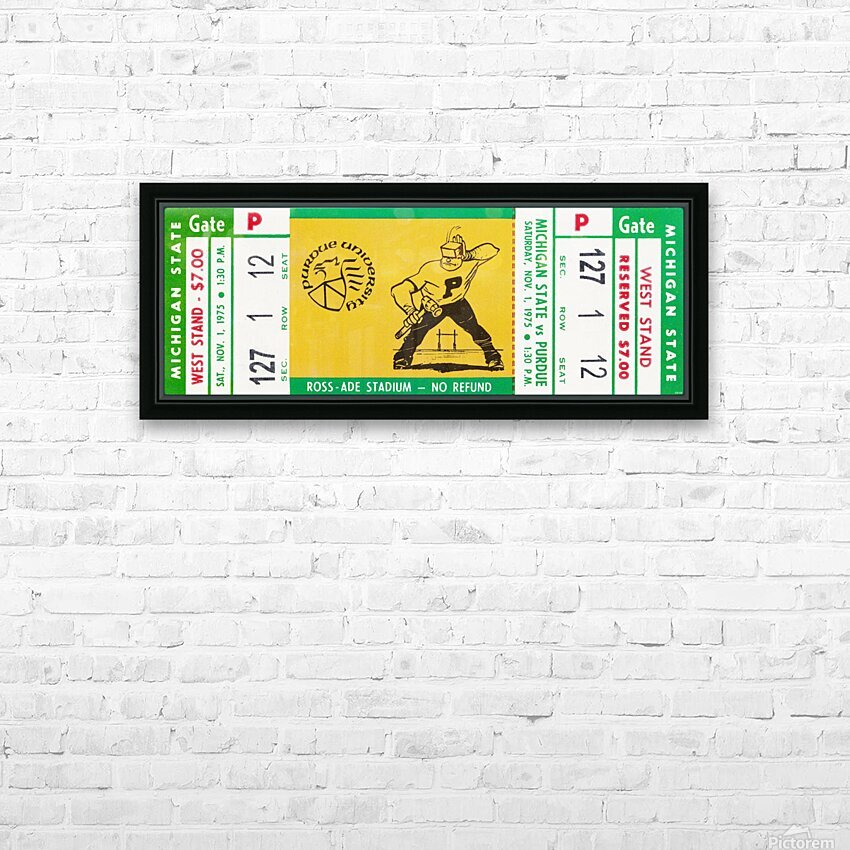 1975 Michigan State vs. Purdue HD Sublimation Metal print with Decorating Float Frame (BOX)