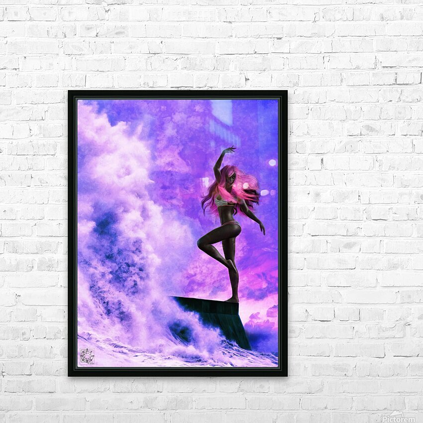 TheDancers 1.1 Female HD Sublimation Metal print with Decorating Float Frame (BOX)