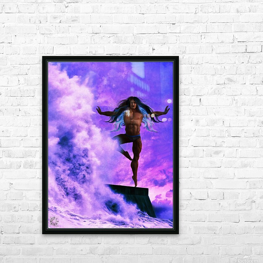 The Dancers 1.2 Male HD Sublimation Metal print with Decorating Float Frame (BOX)