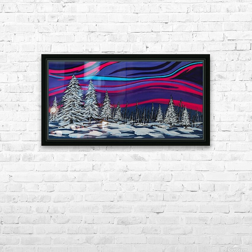 Snowy Trees Chinook Art IMG_0180 HD Sublimation Metal print with Decorating Float Frame (BOX)