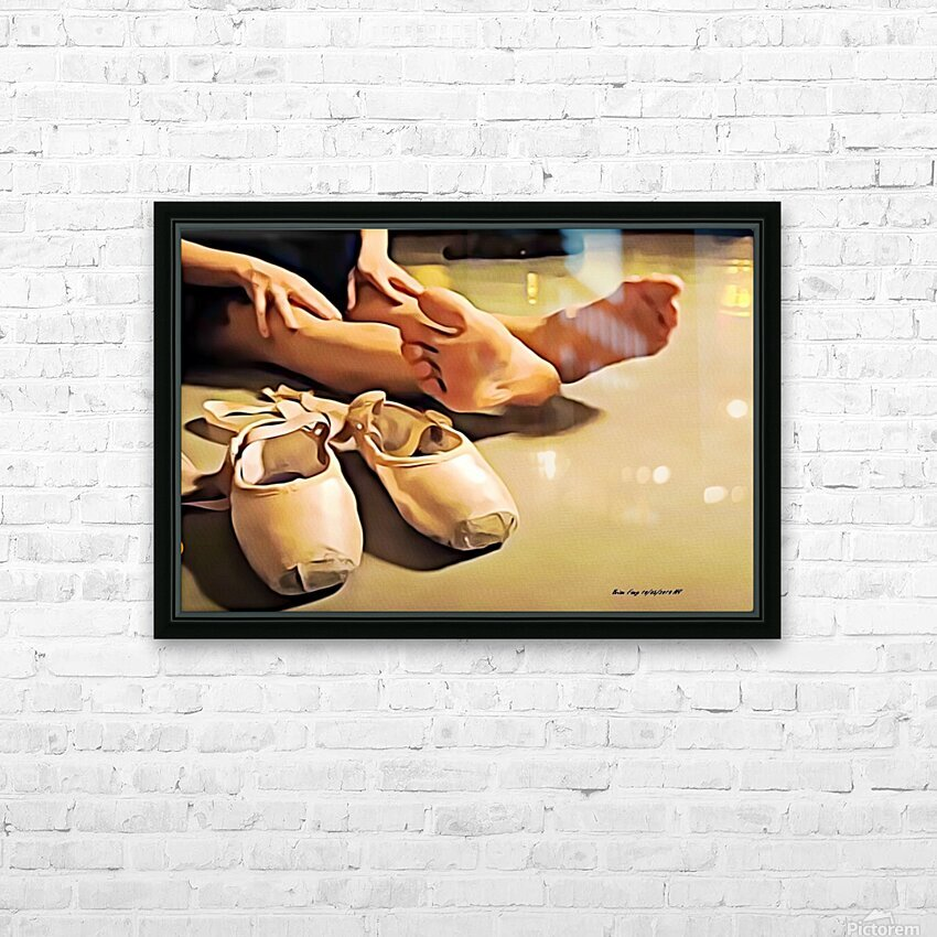 BalletDancerp HD Sublimation Metal print with Decorating Float Frame (BOX)