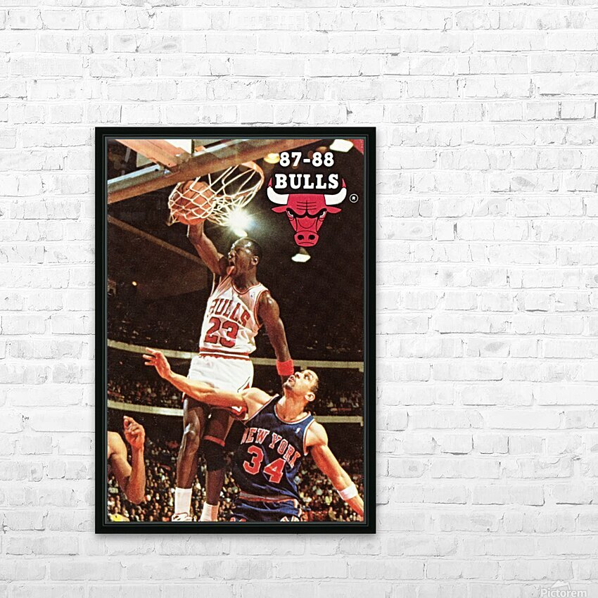 1987 Chicago Bulls Michael Jordan Art HD Sublimation Metal print with Decorating Float Frame (BOX)