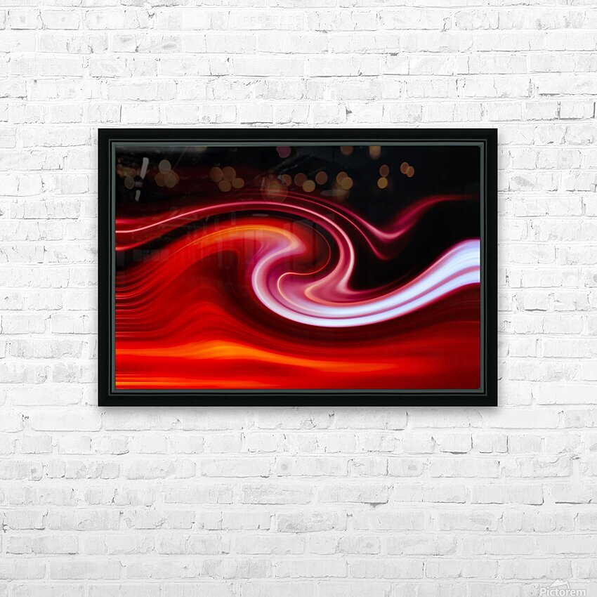 FIRE WAVE HD Sublimation Metal print with Decorating Float Frame (BOX)