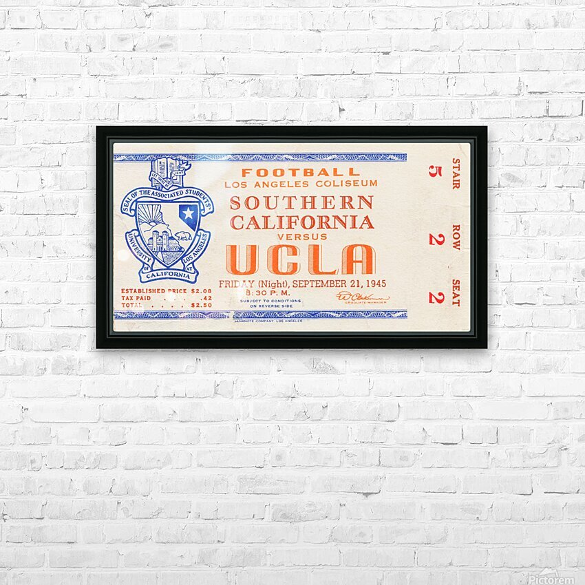 1945 USC vs. UCLA  HD Sublimation Metal print with Decorating Float Frame (BOX)