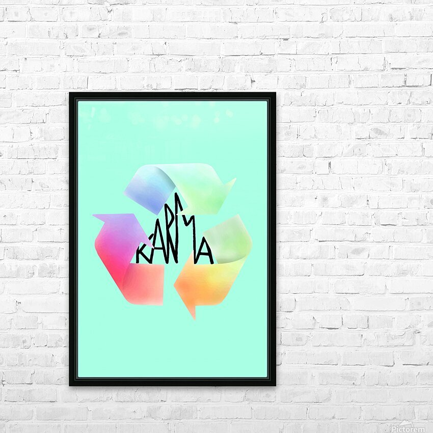 karma HD Sublimation Metal print with Decorating Float Frame (BOX)
