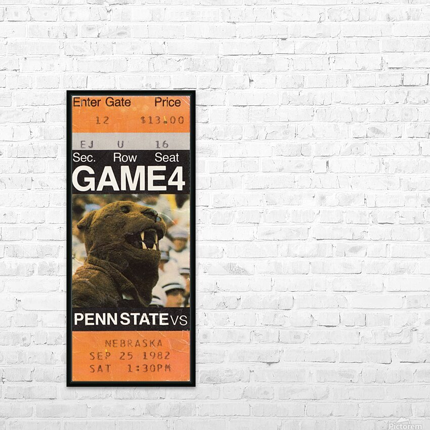 1982 Penn State vs. Nebraska HD Sublimation Metal print with Decorating Float Frame (BOX)