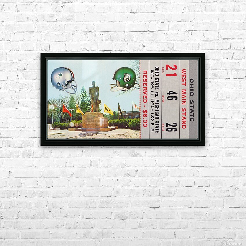 1972 Michigan State vs. Ohio State HD Sublimation Metal print with Decorating Float Frame (BOX)
