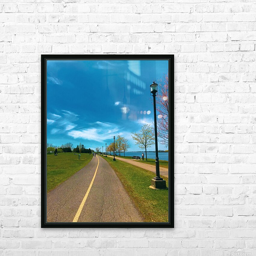 Cycling path HD Sublimation Metal print with Decorating Float Frame (BOX)