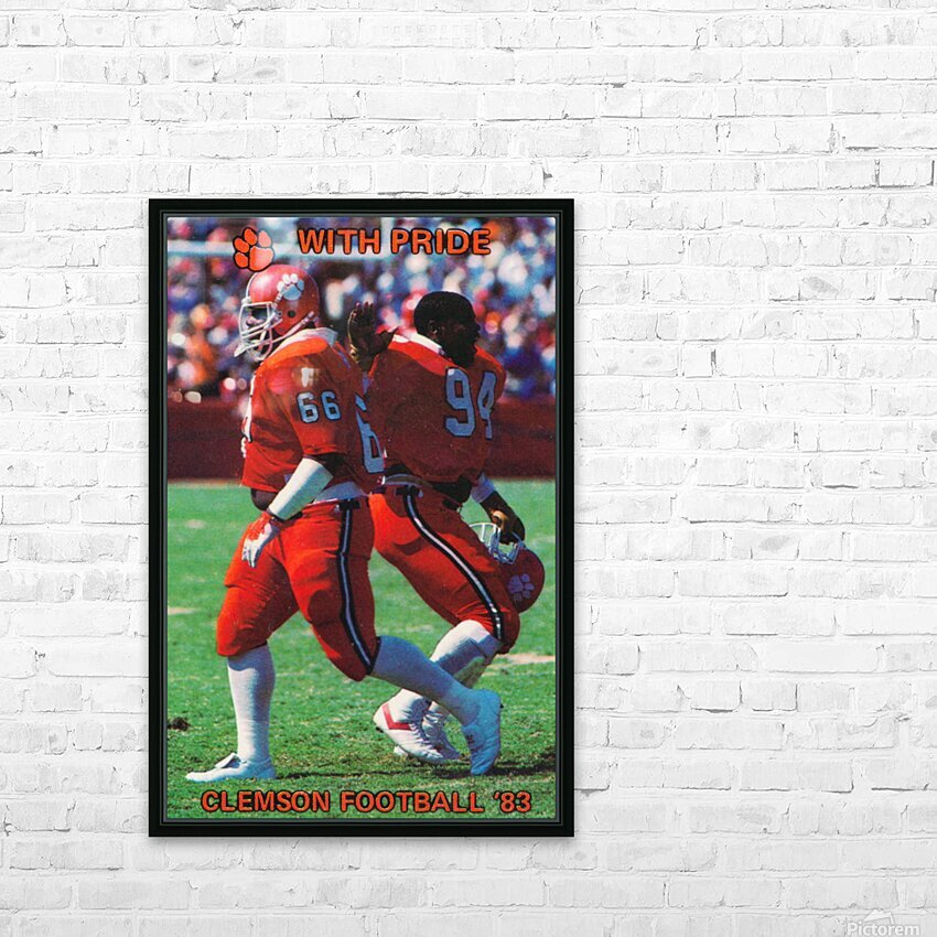 1983 Clemson Pride HD Sublimation Metal print with Decorating Float Frame (BOX)