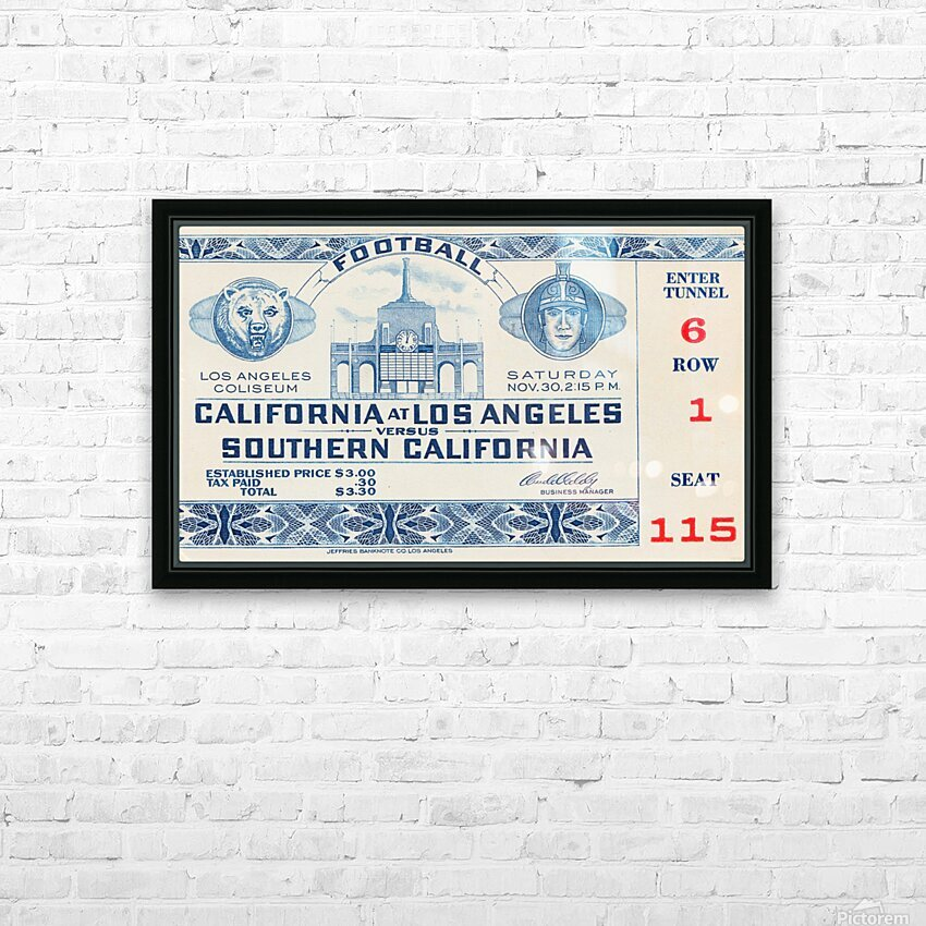 1940 USC vs. UCLA HD Sublimation Metal print with Decorating Float Frame (BOX)