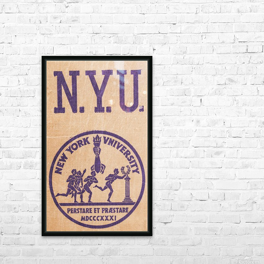 1950s NYU Art HD Sublimation Metal print with Decorating Float Frame (BOX)