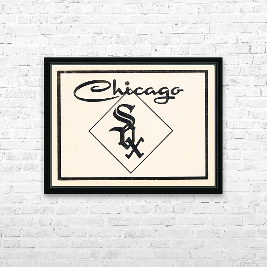 1961 Chicago White Sox Art HD Sublimation Metal print with Decorating Float Frame (BOX)