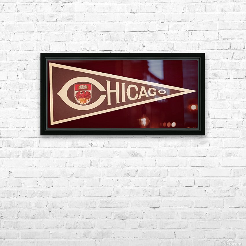 1950s University of Chicago HD Sublimation Metal print with Decorating Float Frame (BOX)
