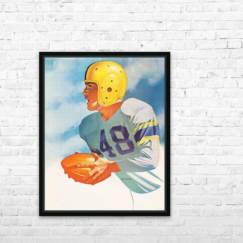1948 Lon Keller Football Art HD Sublimation Metal print with Decorating Float Frame (BOX)