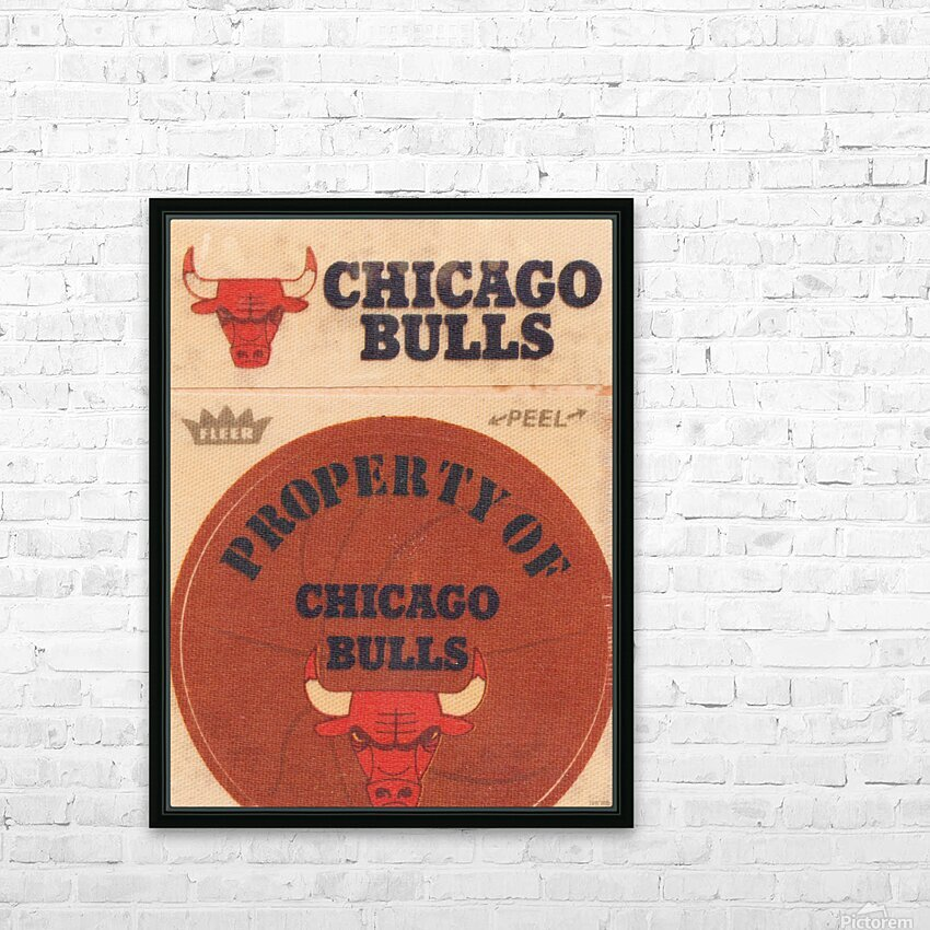 1974 Chicago Bulls Fleer Decal Art HD Sublimation Metal print with Decorating Float Frame (BOX)