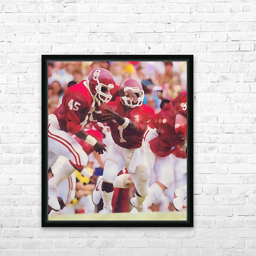 1984 Danny Bradley Oklahoma Sooners HD Sublimation Metal print with Decorating Float Frame (BOX)
