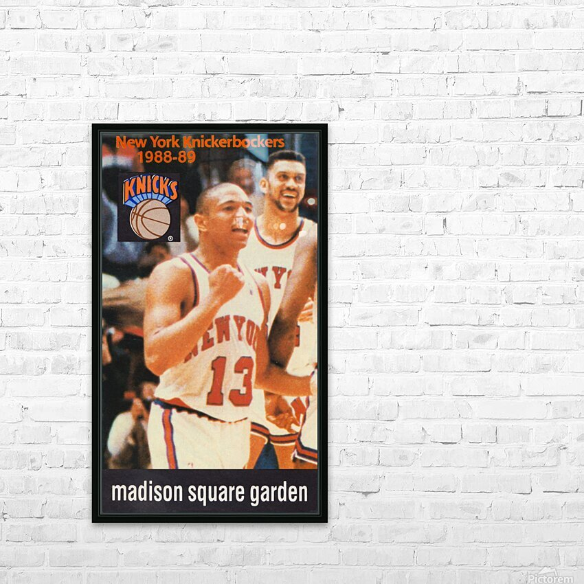 1988 New York Knicks Mark Jackson HD Sublimation Metal print with Decorating Float Frame (BOX)