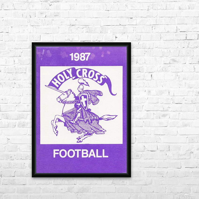 1987 Holy Cross Football HD Sublimation Metal print with Decorating Float Frame (BOX)