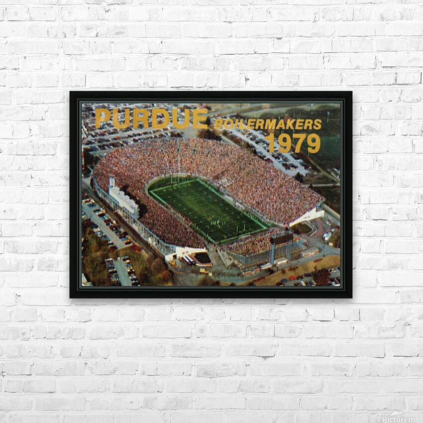 1979 Purdue Ross-Ade Stadium Art HD Sublimation Metal print with Decorating Float Frame (BOX)