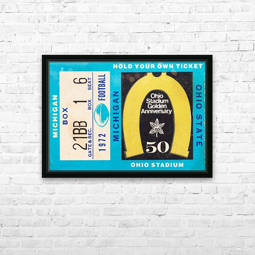 1972 Michigan vs. Ohio State HD Sublimation Metal print with Decorating Float Frame (BOX)