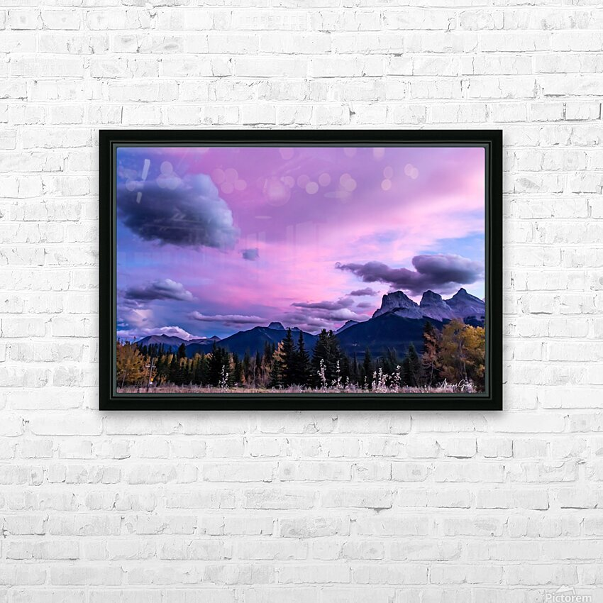 Three Sisters Cosmic Sky IMG_5594 HD Sublimation Metal print with Decorating Float Frame (BOX)