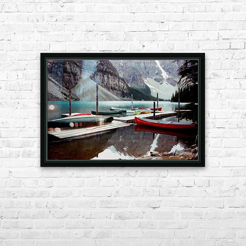 Moraine Lake  HD Sublimation Metal print with Decorating Float Frame (BOX)