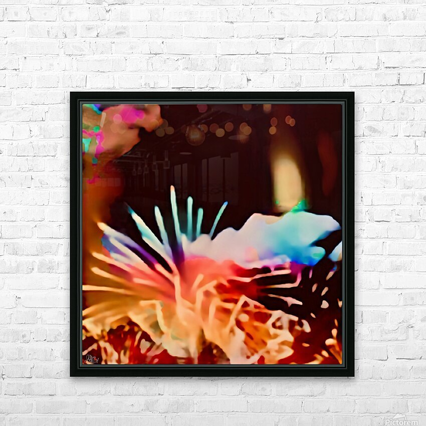 Anemone in the Luminescence Seas of My Soul HD Sublimation Metal print with Decorating Float Frame (BOX)