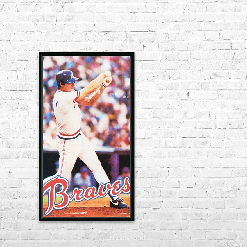 1983 Atlanta Braves Dale Murphy HD Sublimation Metal print with Decorating Float Frame (BOX)