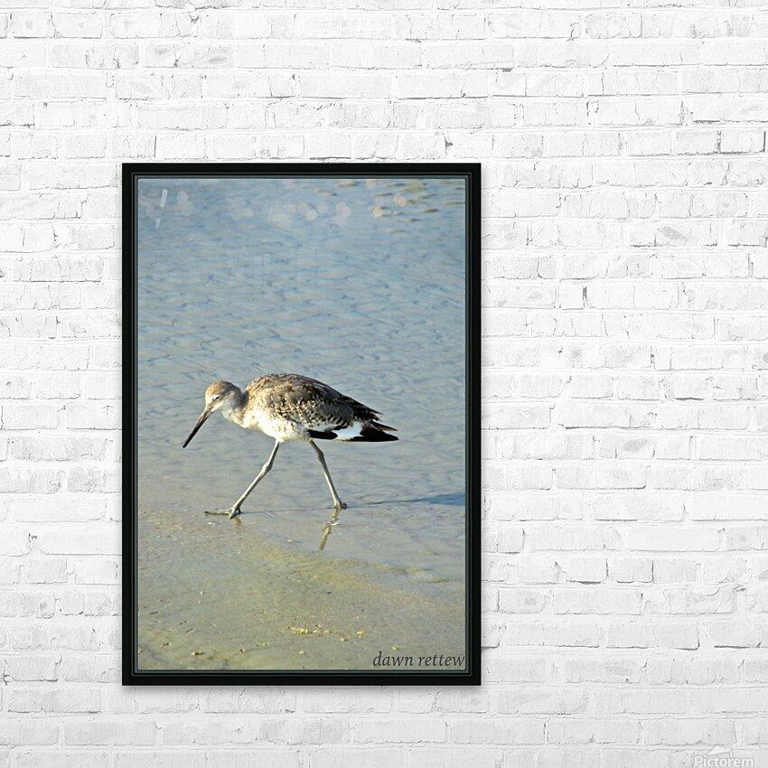 Ba Bum Bird HD Sublimation Metal print with Decorating Float Frame (BOX)