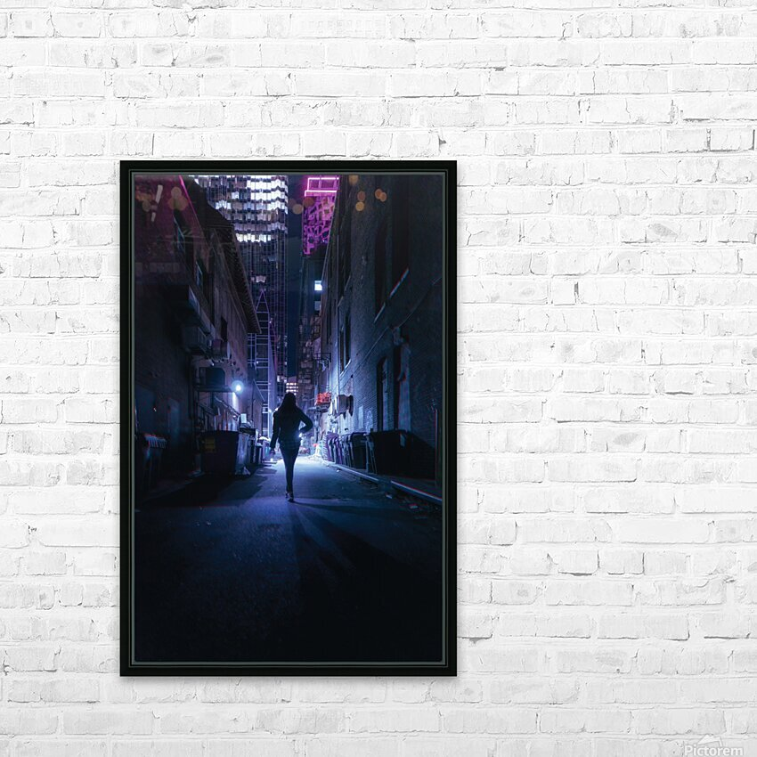 Midnight Girl HD Sublimation Metal print with Decorating Float Frame (BOX)