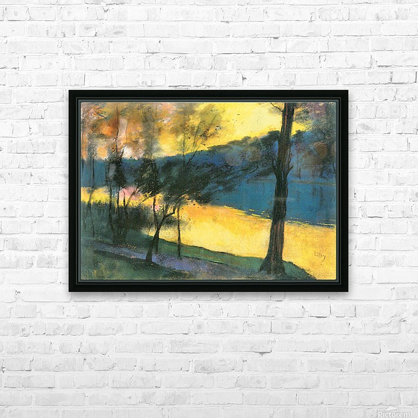 Landscape by Lesser Ury HD Sublimation Metal print with Decorating Float Frame (BOX)