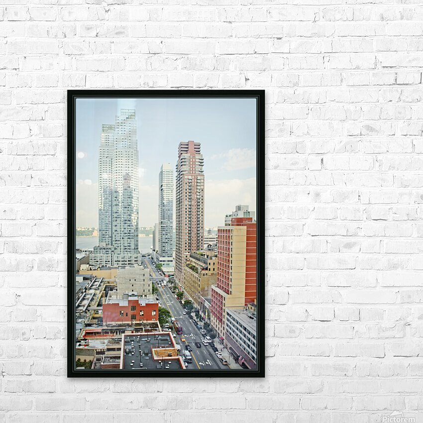 Architectural image of Hells kitchen Manhatten New york USA 2011 HD Sublimation Metal print with Decorating Float Frame (BOX)