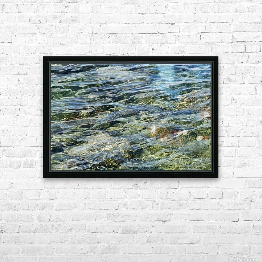 Close up of water on shore of slovenian resort town Piran Slovenia HD Sublimation Metal print with Decorating Float Frame (BOX)