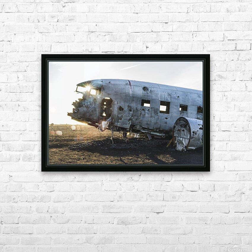 Solheimasandur Plane Crash Southern Region Iceland HD Sublimation Metal print with Decorating Float Frame (BOX)