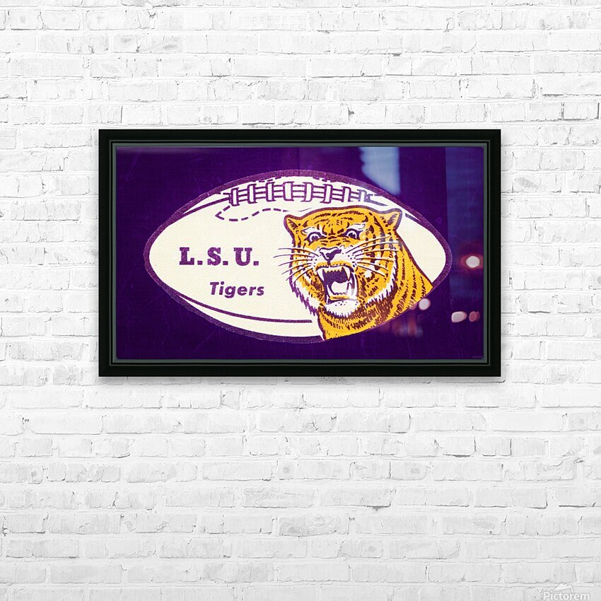 1960s LSU Tigers Football HD Sublimation Metal print with Decorating Float Frame (BOX)