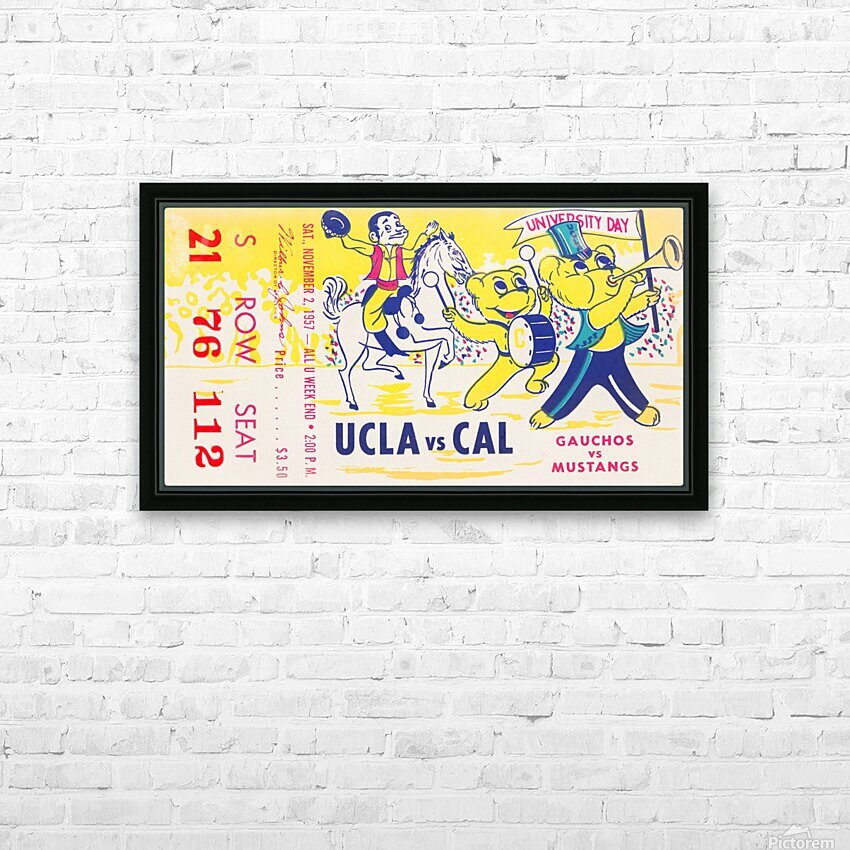 1957 UCLA vs. California  HD Sublimation Metal print with Decorating Float Frame (BOX)
