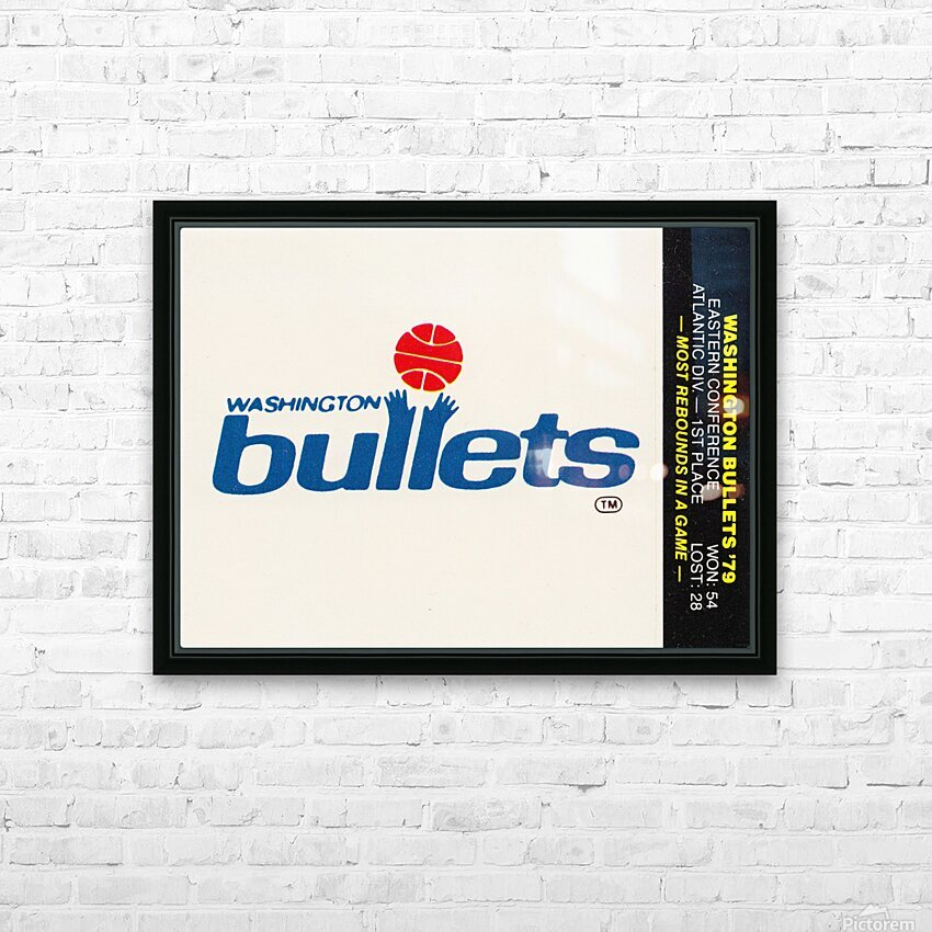 1979 Washington Bullets Fleer Decal  HD Sublimation Metal print with Decorating Float Frame (BOX)